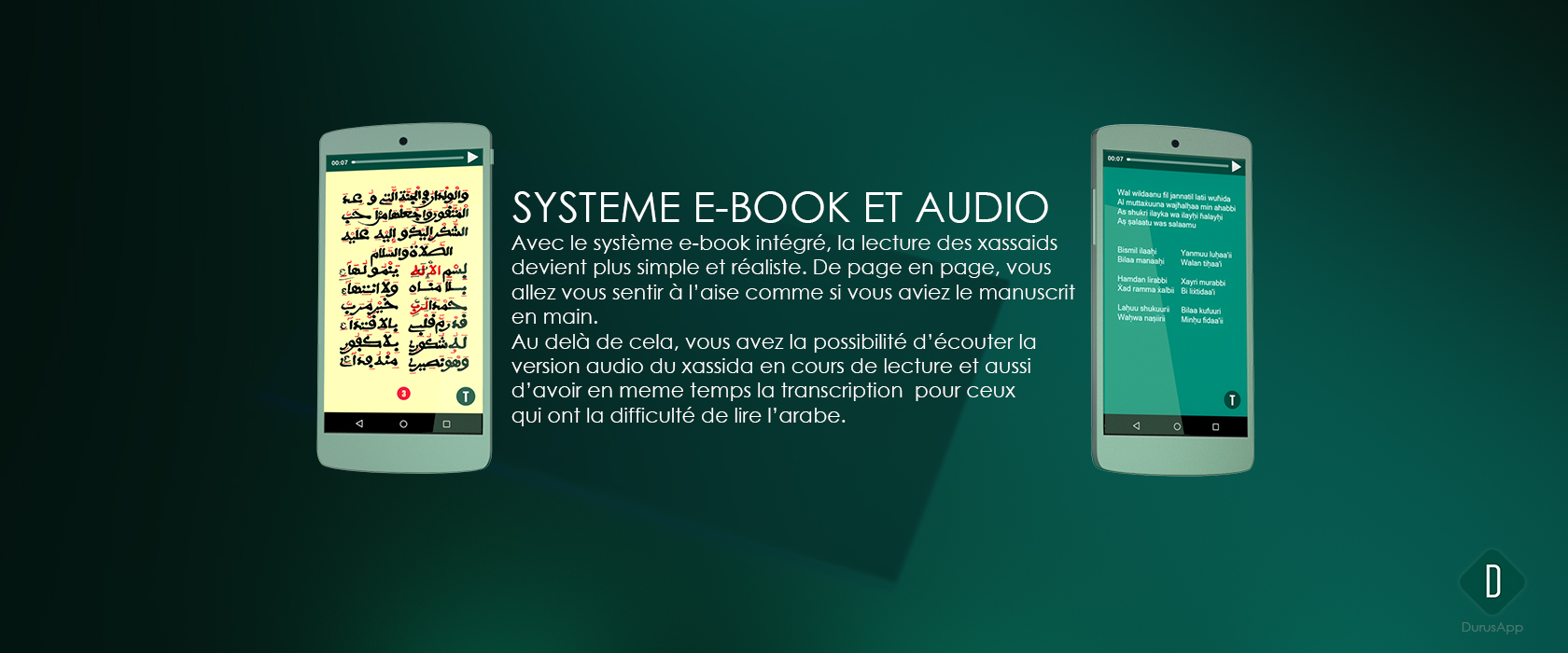Systeme e-book et audio